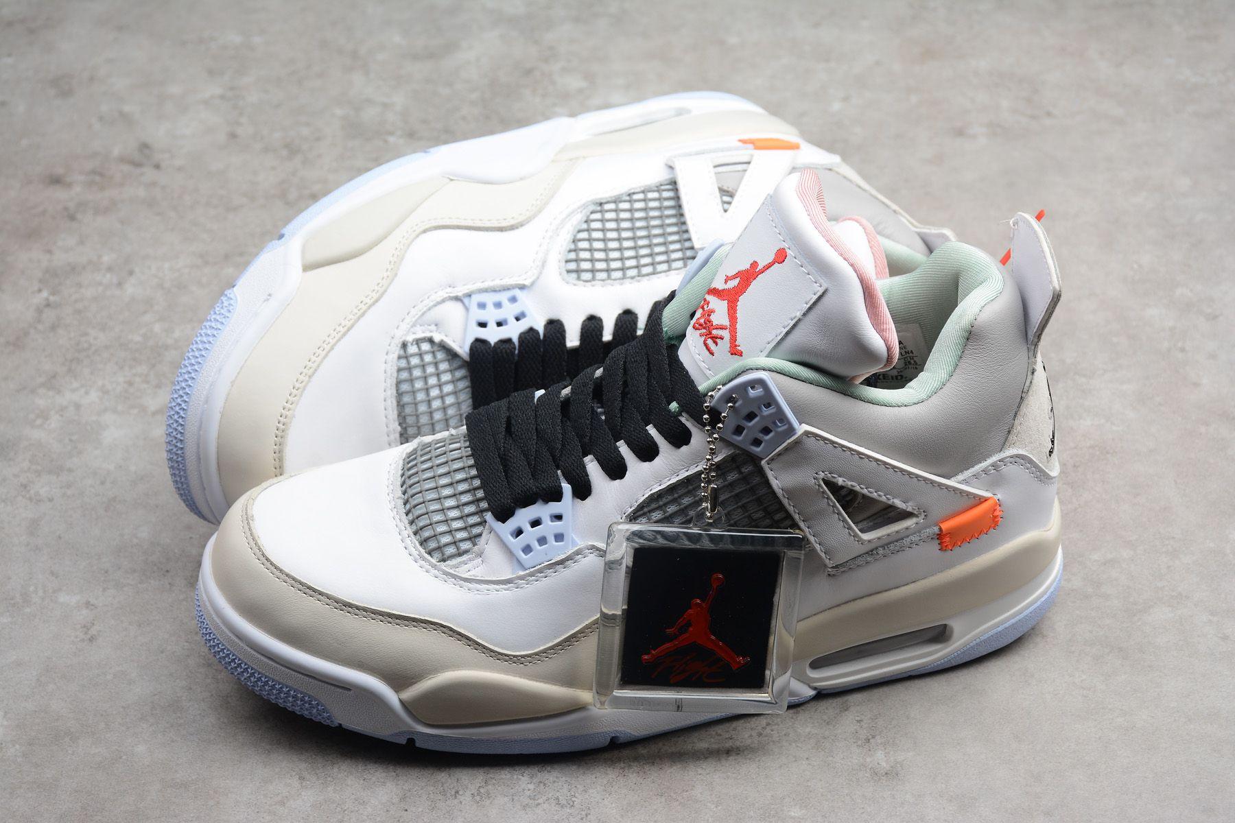 "509762bb20f4 Buy Off-White x Air Jordan 4 ""Encore"" Han Yubai Light Beige Grey ..."