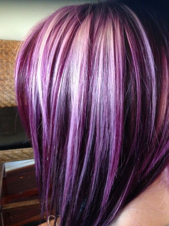 purple hair color highlights