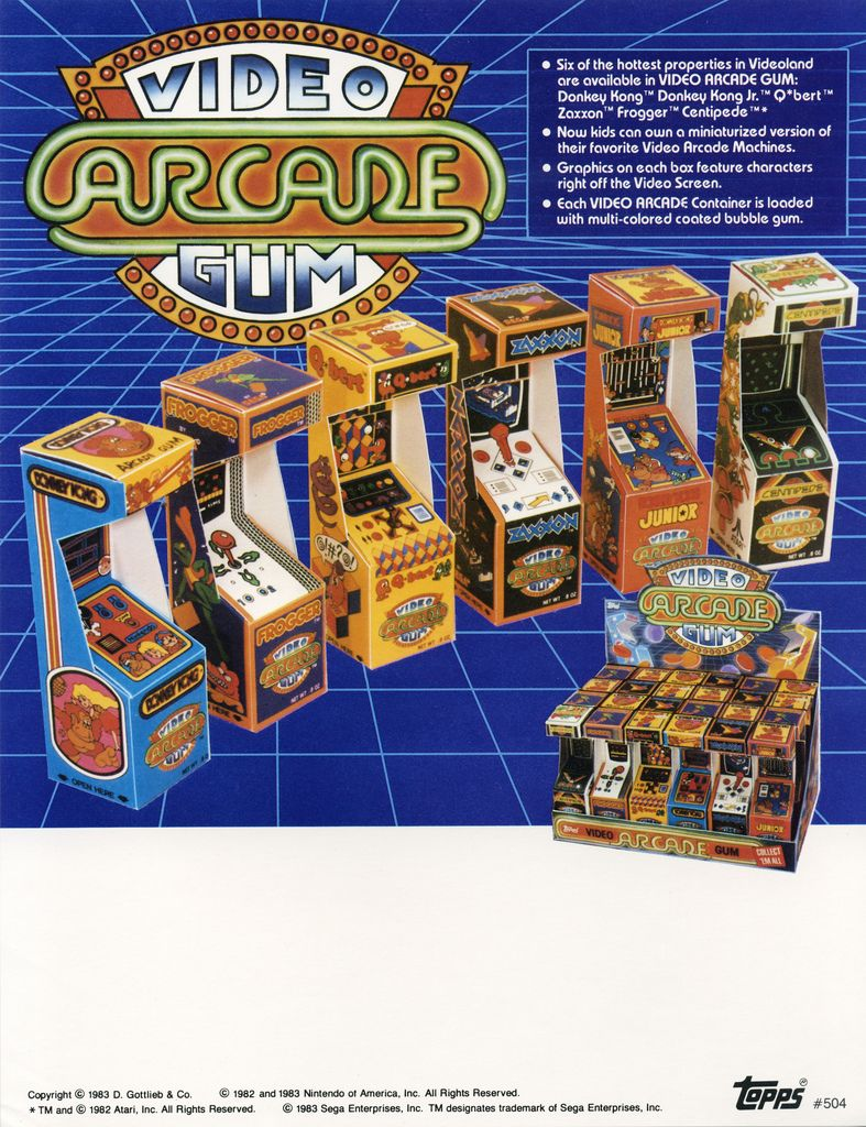 All Sizes Topps Video Arcade Gum Candy Ad Sell Sheet 1983 Flickr Phot Arcade Mini Arcade Retro Video Games