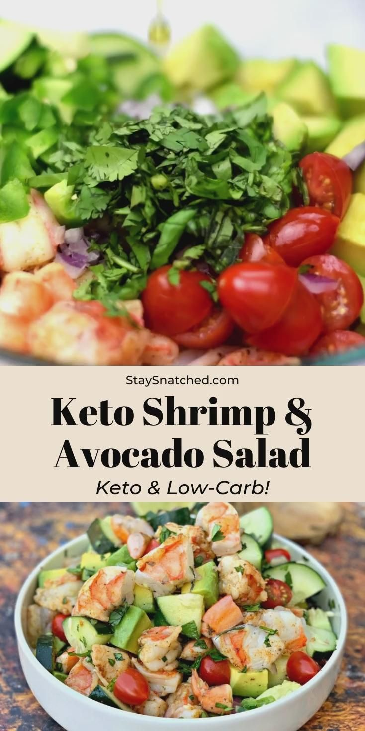 Photo of Shrimp and Avocado Ceviche Salad (Keto and Low-Carb)