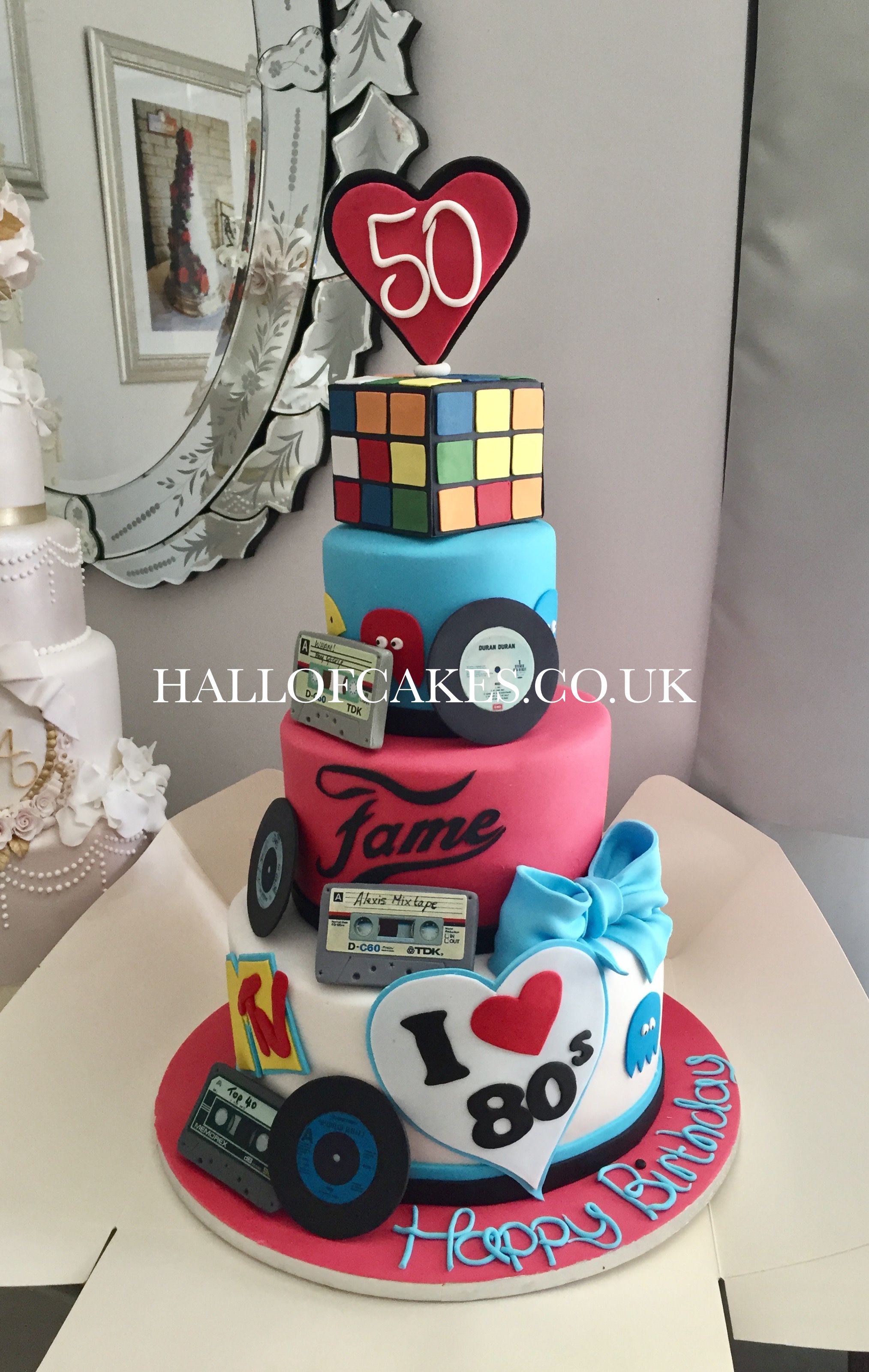 80s Theme Birthday Cake By Hall Of Cakes