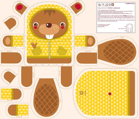 Acolhedor Beaver Pal tecido por verycherry em Spoonflower - tecido personalizado