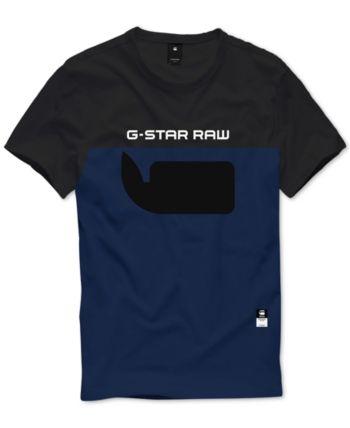 37355257b30 G-Star Raw Men s Colorblocked T-Shirt - Hudson Blue white M in 2019 ...