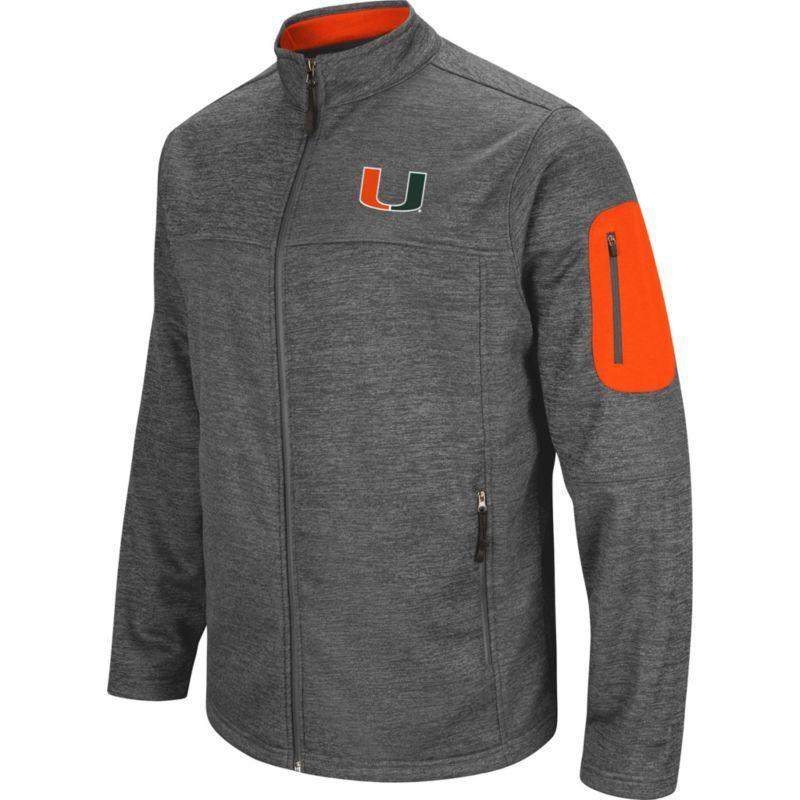 c654451777 Colosseum Men's Miami Hurricanes Grey Anchor Full-Zip Jacket, Size: Medium,  Team