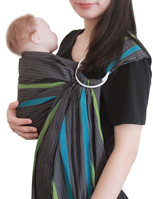 Vlokup Baby Ring Sling Grey Rainbow Baby sling, Best