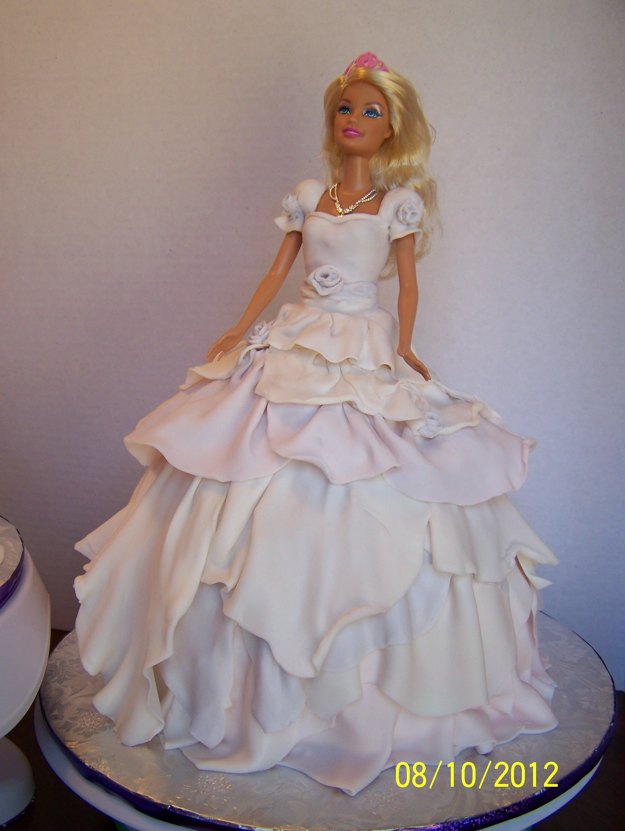 doll wedding cake barbies for 5 year olds cakes 13693
