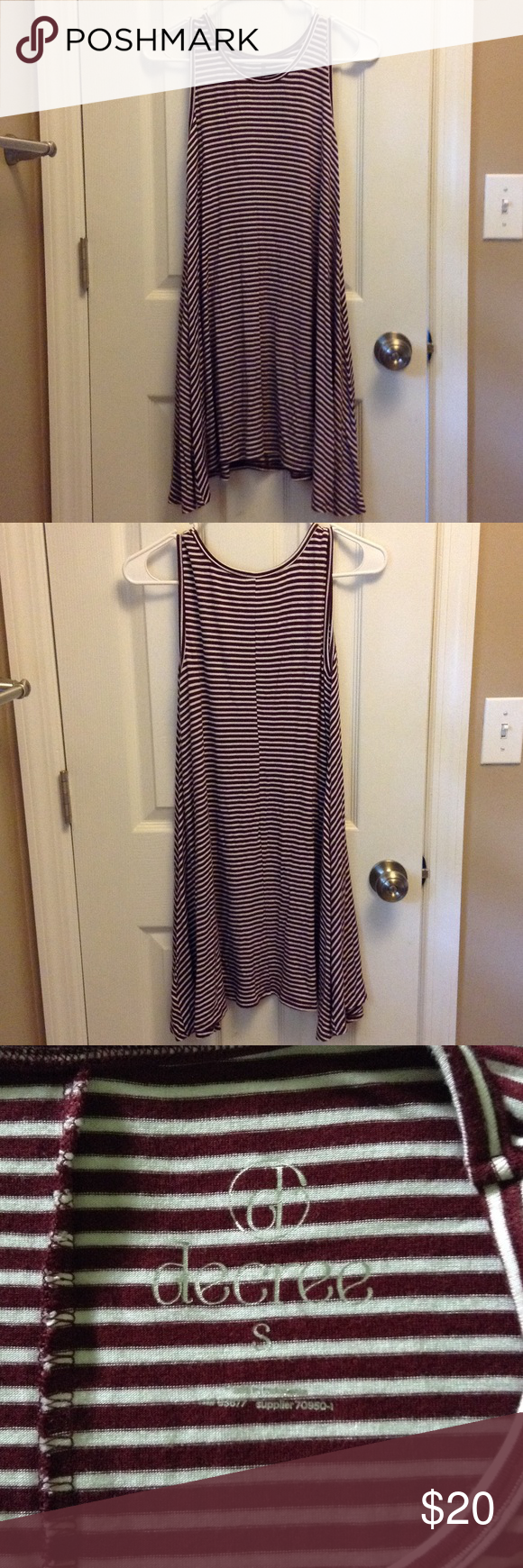 ba52981e11e3 Maroon striped tank dress Maroon   burgundy   wine color and white striped  dress