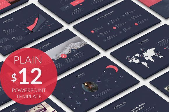 Plain business powerpoint template by prefactory on creativemarket plain business powerpoint template templates general features 80 creative unique slides fully animated 2 color options dark light by prefactory toneelgroepblik Choice Image