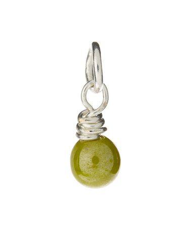 Loving this Olive Czech Glass Pendant on #zulily! #zulilyfinds