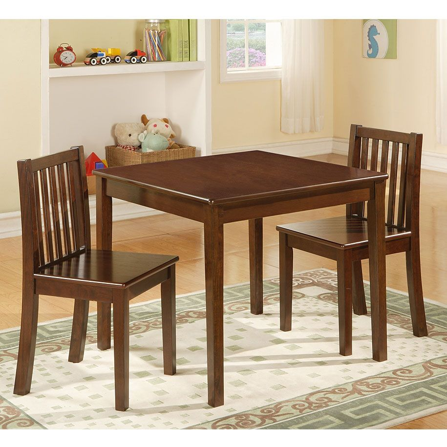 Big Lots Dining Set: 3-Piece Wood Kiddie Table & Chair Set At Big Lots.