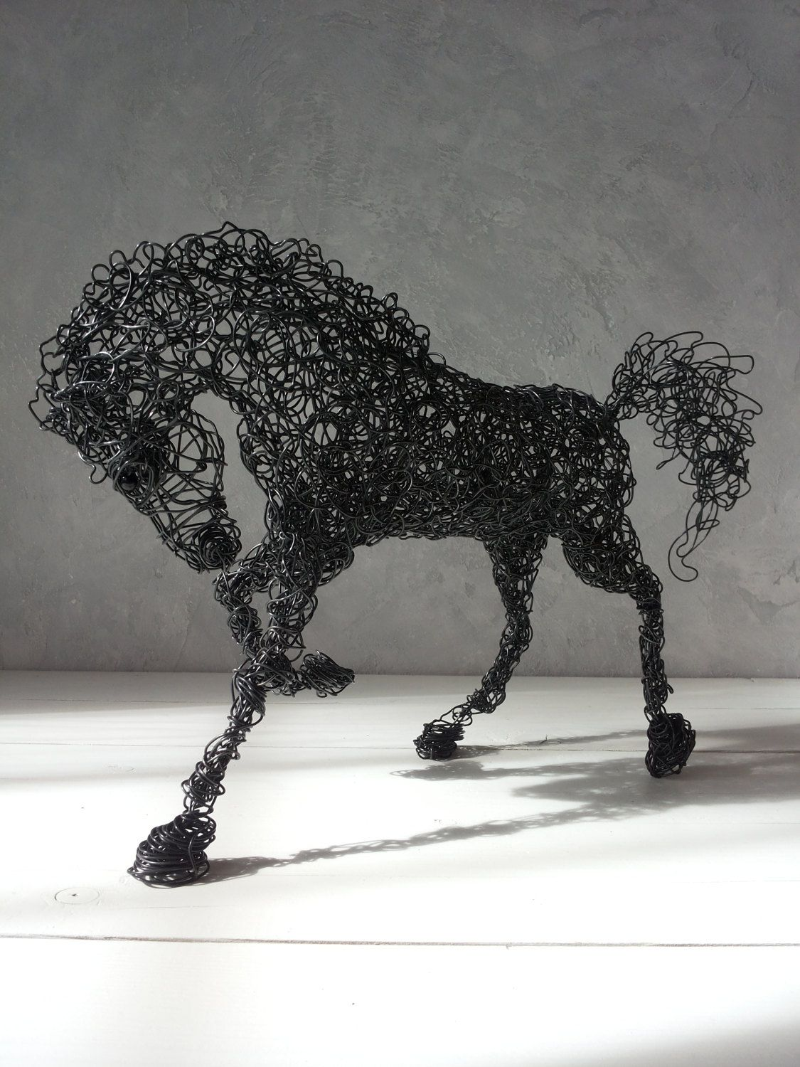 Wire sculpture, Horse sculpture, Wire horse, Wedding gift, Father ...