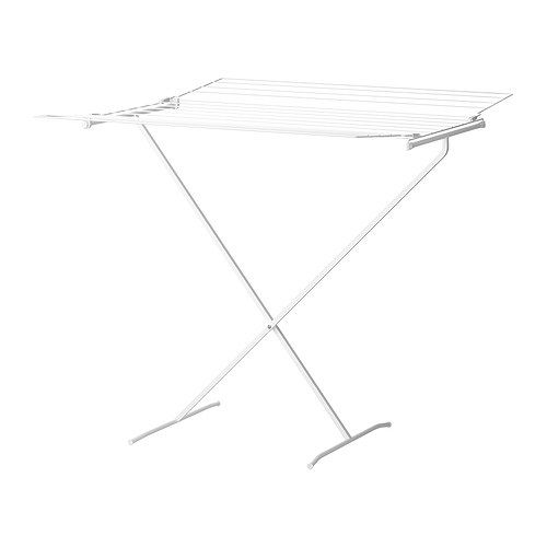Wäscheständer Ikea lajban drying rack ikea two fold out wings allow room for more