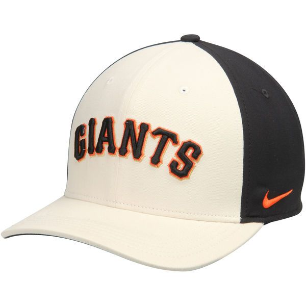 76dcec9e2f52d Men s San Francisco Giants Nike Natural Black Color Vapor Classic Adjustable  Performance Hat