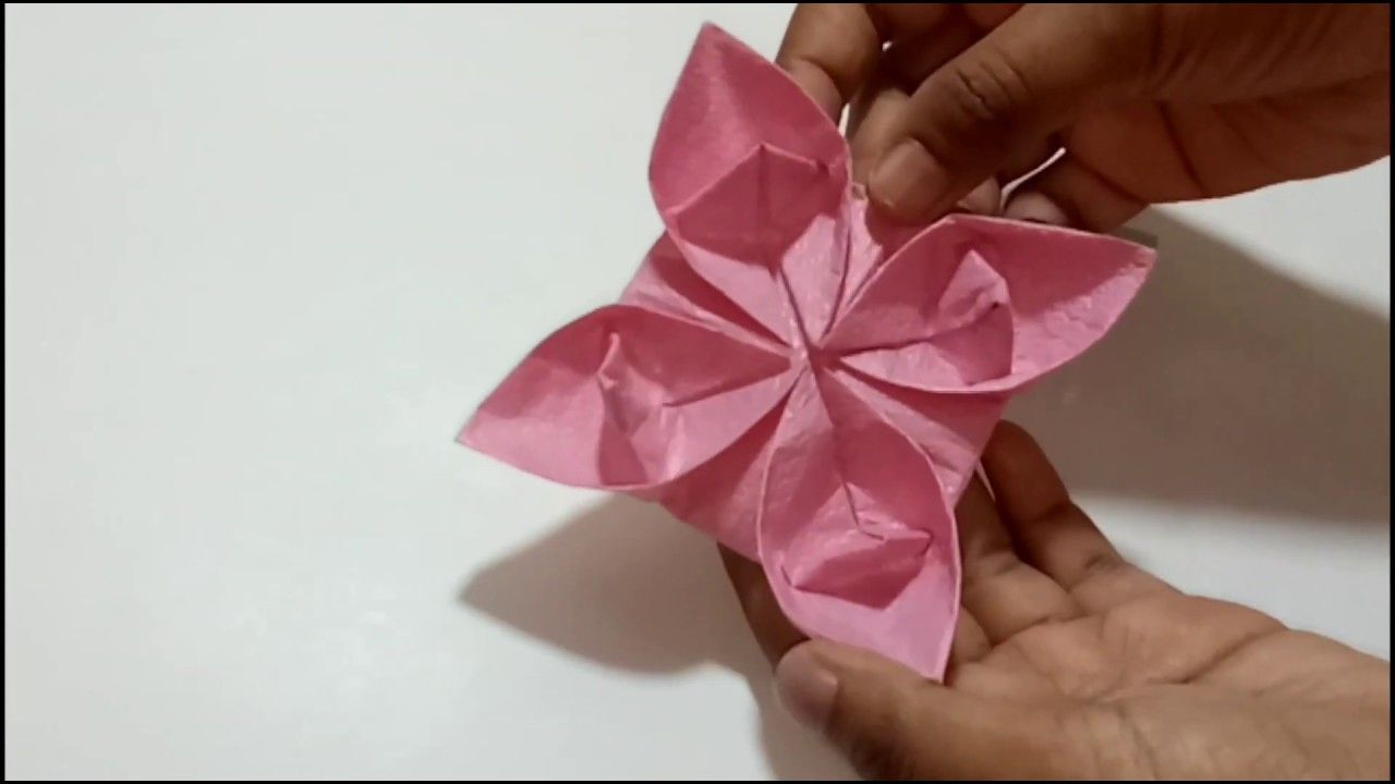 Make A Lotus Flower With Paper In Minutes Origami Db Art And Craft Origami Arts And Crafts Craft Work