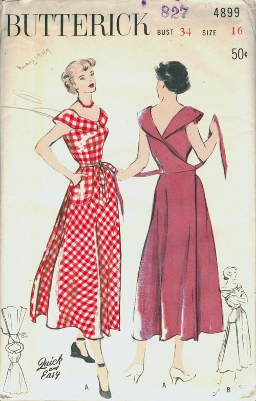 Vintage wrap dress | wrap dress | Pinterest | Retro muster, Vintage ...