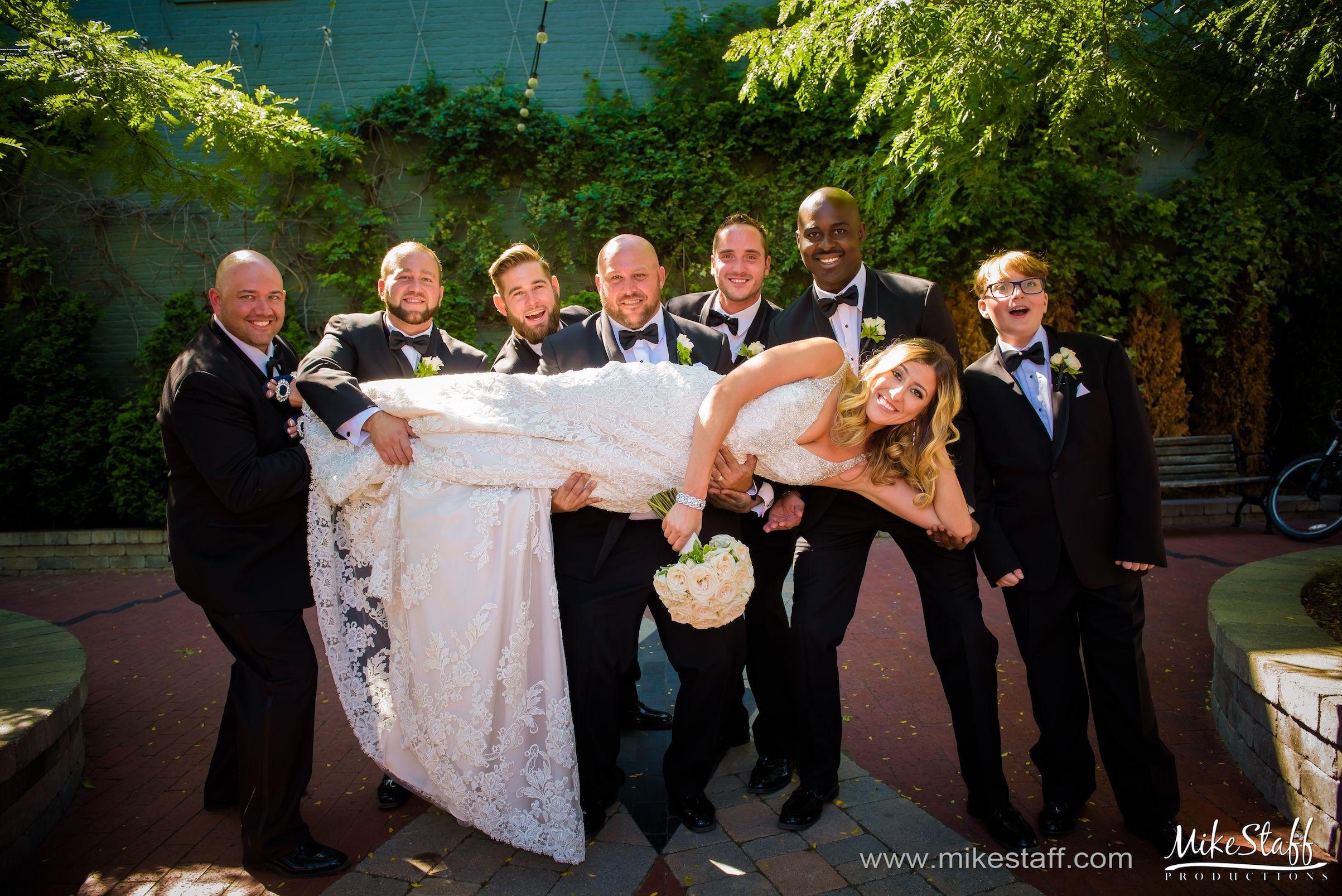Groomsmen hold up bride #Michiganwedding #Michiganwedding #Chicagowedding #MikeStaffProductions #wedding #reception #weddingphotography #weddingdj #weddingvideography #wedding #photos #wedding #pictures #ideas #planning #DJ #photography #bride #groom