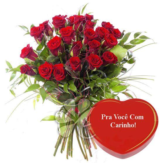 Recados Para Facebook De Flores Rosas Vermelhas Ramalhete De