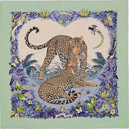 La Maison des Carrés Hermès - Jungle Love   Scarf-a-holic anon ... 9f20a825548