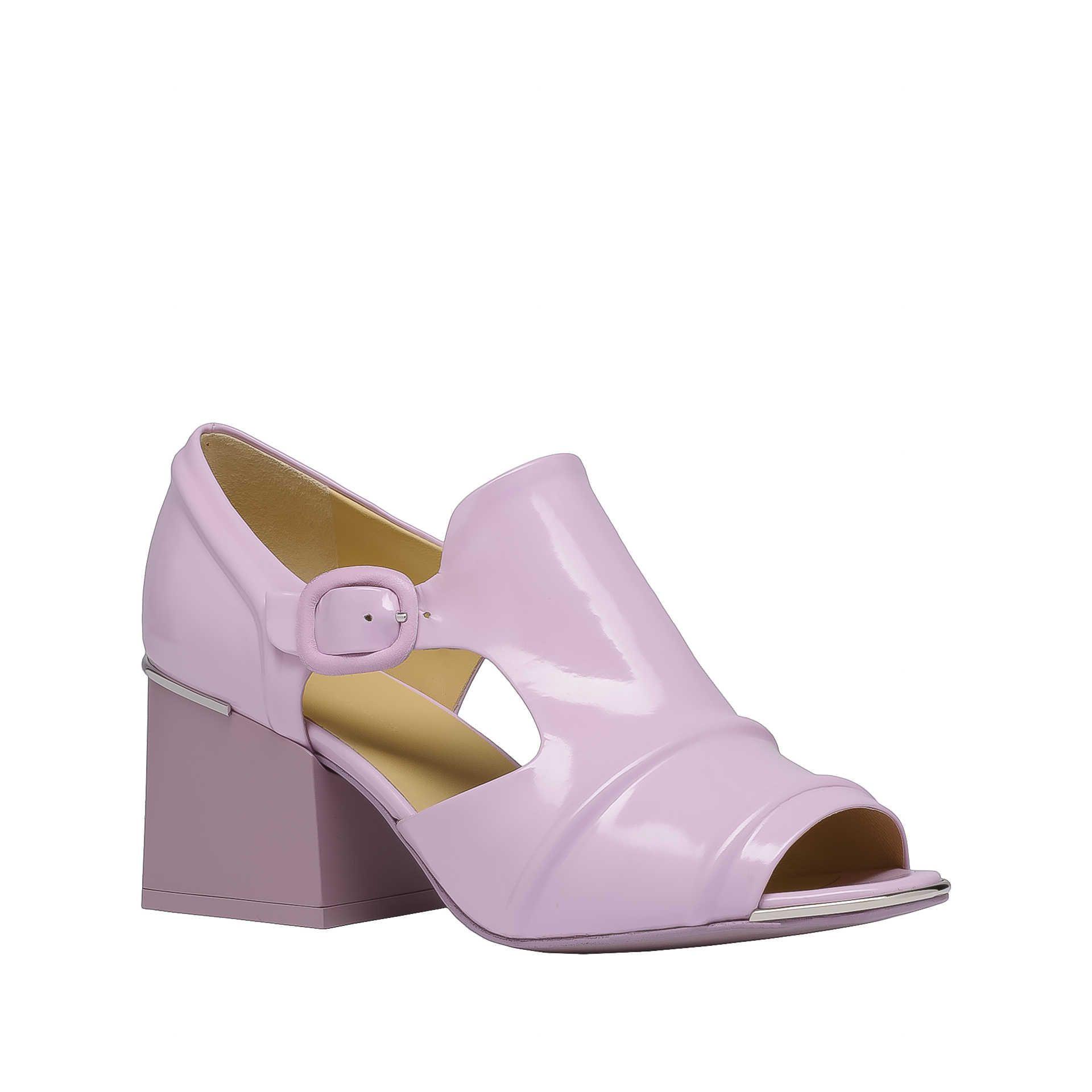 57efd72e00e Pink Balenciaga Cube Open Toe Loafers - Shoess Seasonal - Balenciaga ...