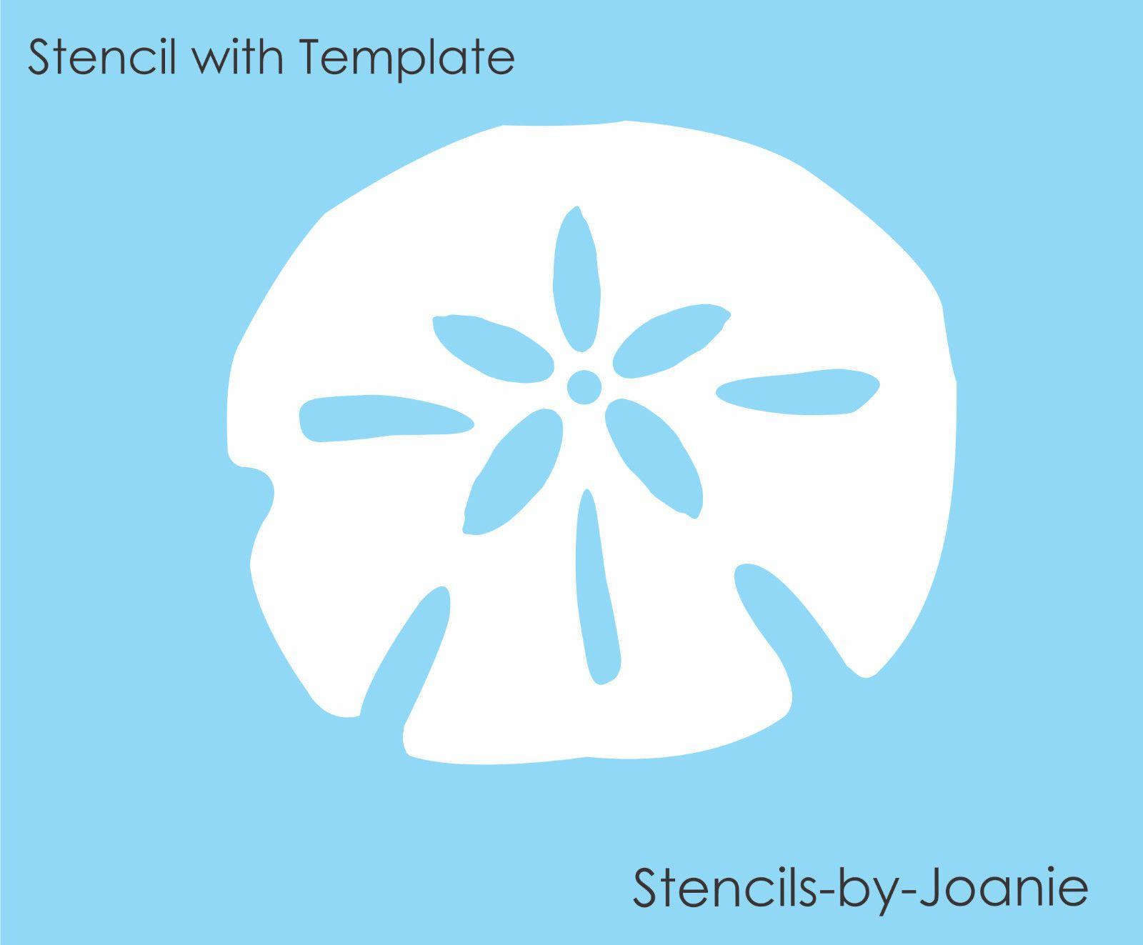 beach themed stencil s nautical stencil reusable stencil Sand Dollar Stencil