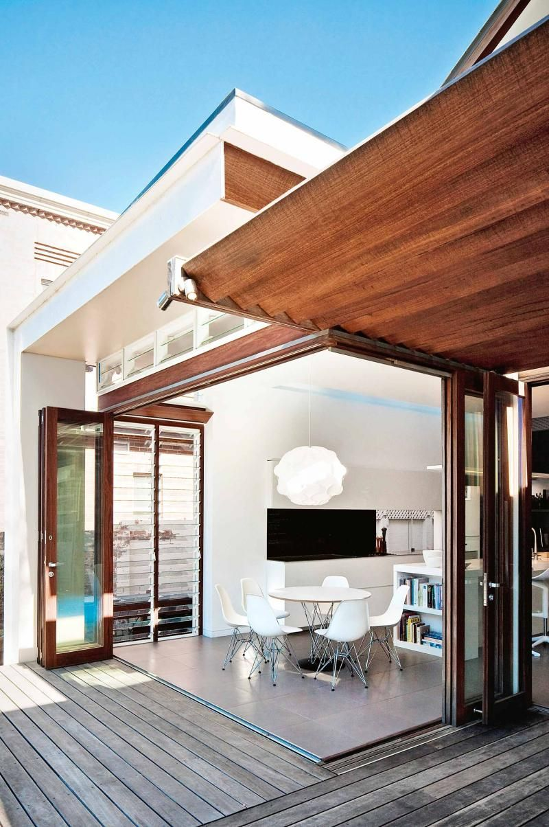 Rear Extension Of A Californian Bungalow Outdoor Spaces