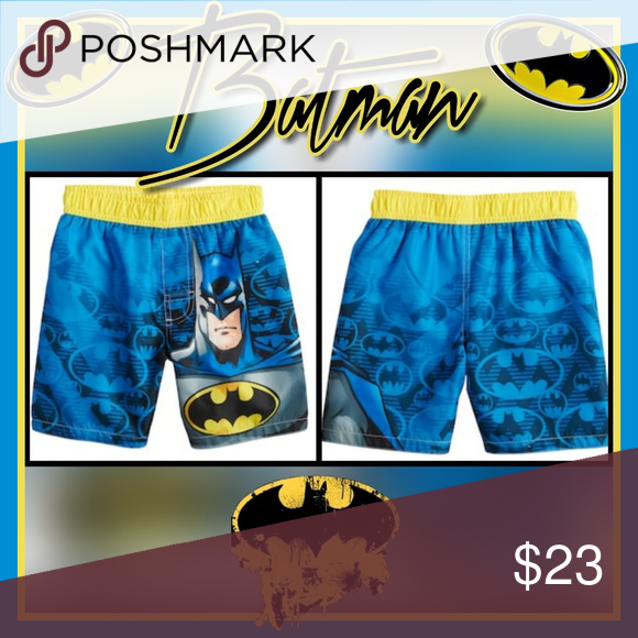 fd255ce461 Toddler Boy DC Comics Batman Swim Trunks Your little super hero will be  ready to save