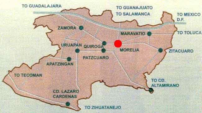 Map of Michoacán Mexico | House-Mexico