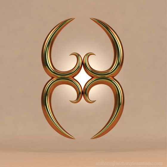Mother Earth Symbol From West Africa Created In Cinema 4d