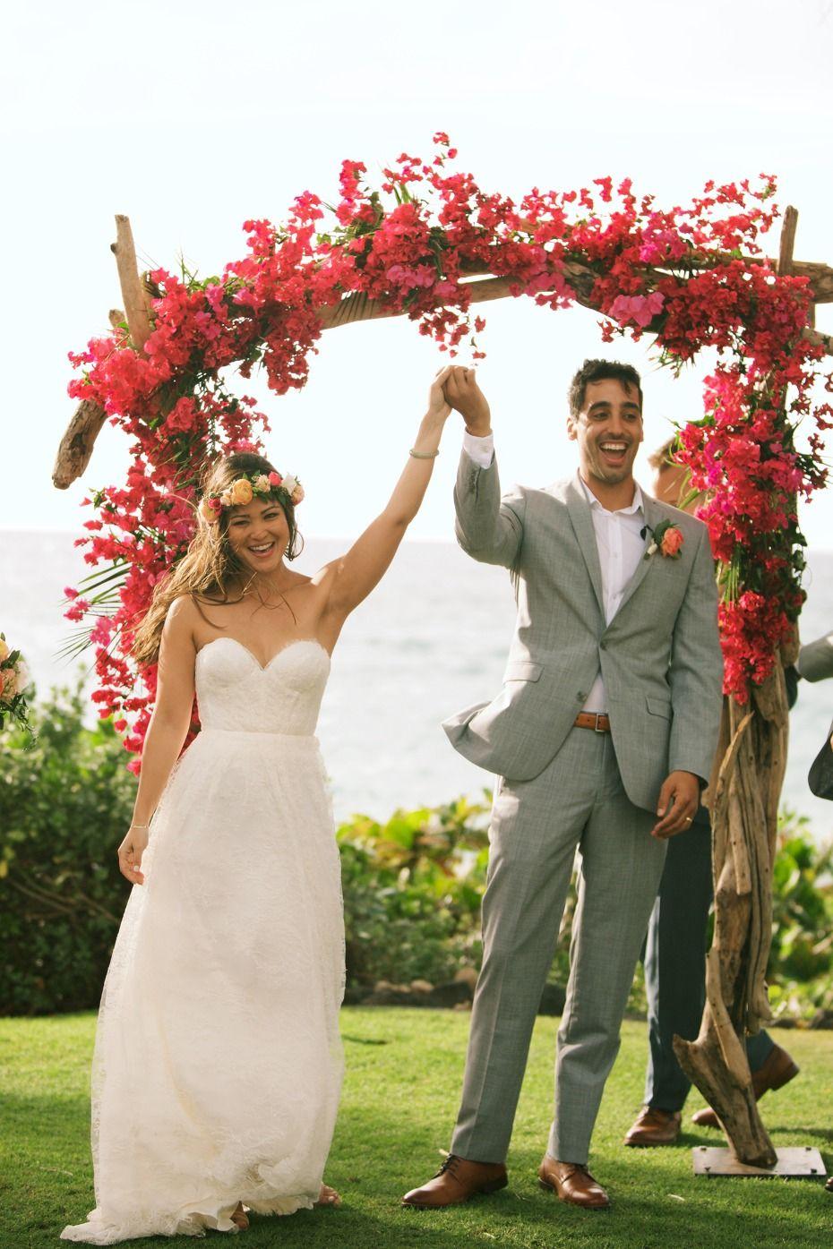 A vintage boho chic hawaiian wedding youull go coconuts for
