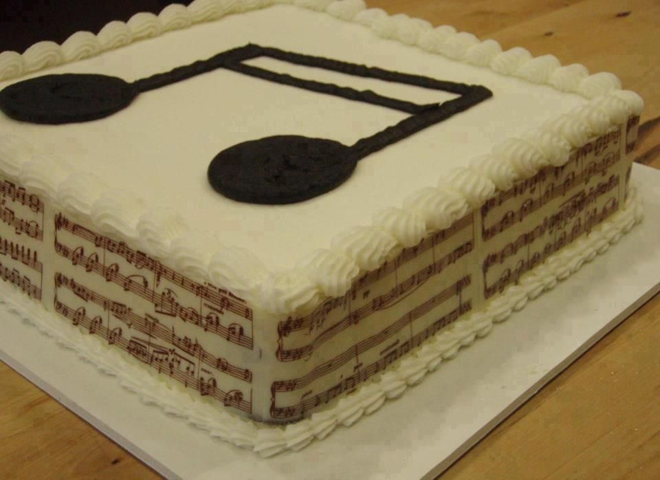 Musical B-day Cake