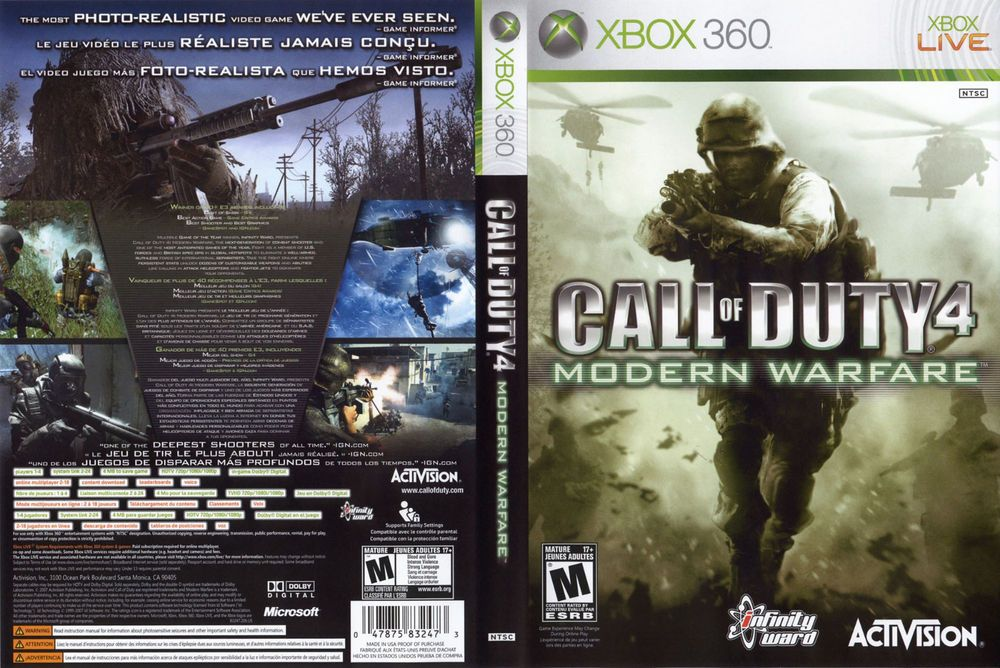 Call Of Duty 4 Modern Warfare Xbox 360 2007 Modern Warfare Call Of Duty Warfare