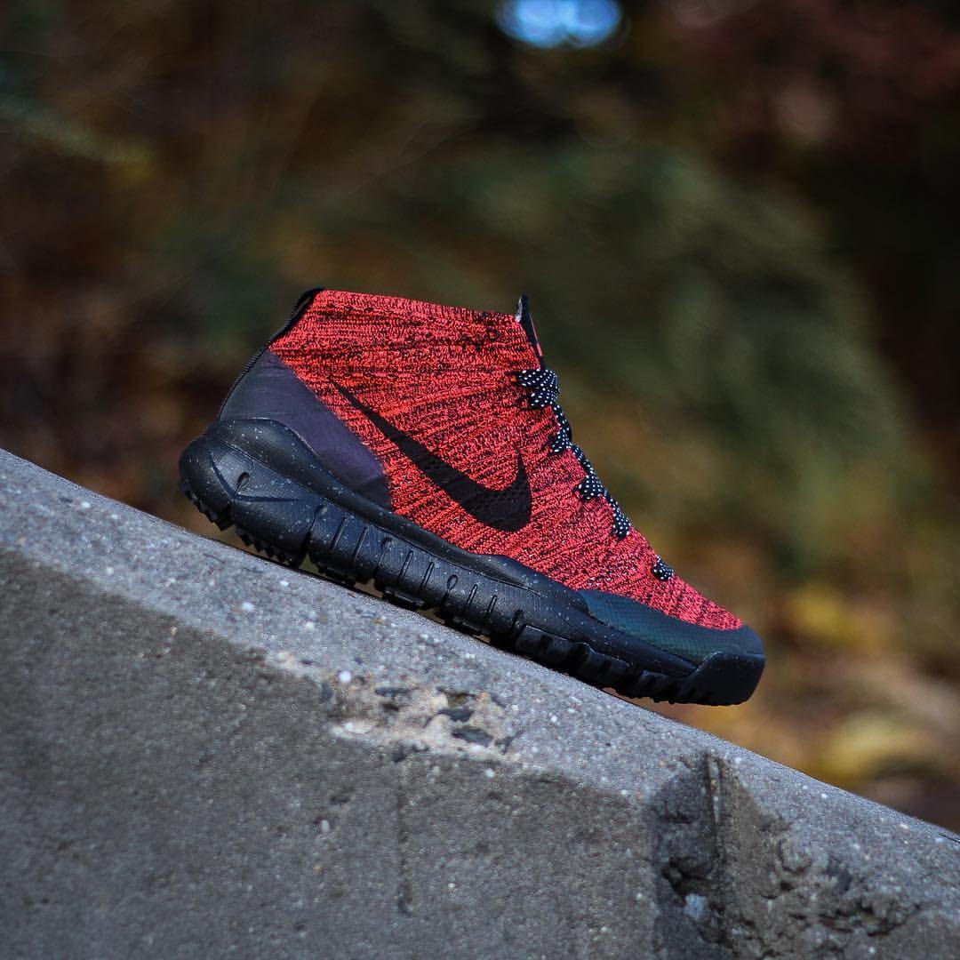 16d4a3aeb0a2 Nike Flyknit Chukka FSB  Bright Crimson Sequoia Black