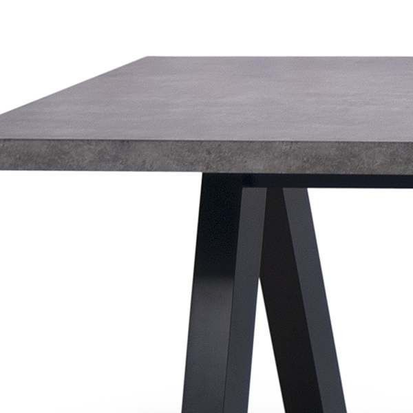 APEX Dining Table, Compact Or Extendable 200/250 Cm X 100 Cm: Concrete