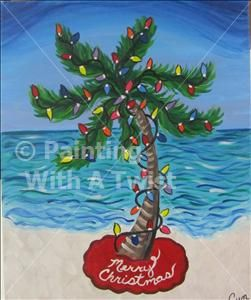 Christmas Palm St Petersburg Painting Class Painting With A