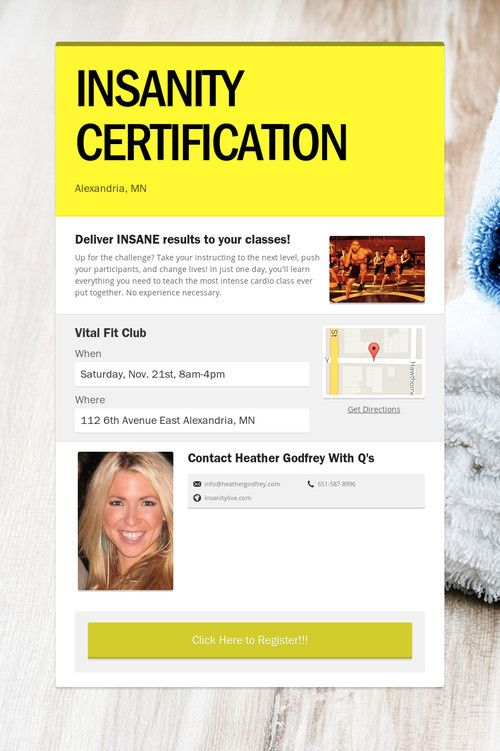 INSANITY CERTIFICATION | BEACHBODY EVENTS | Pinterest