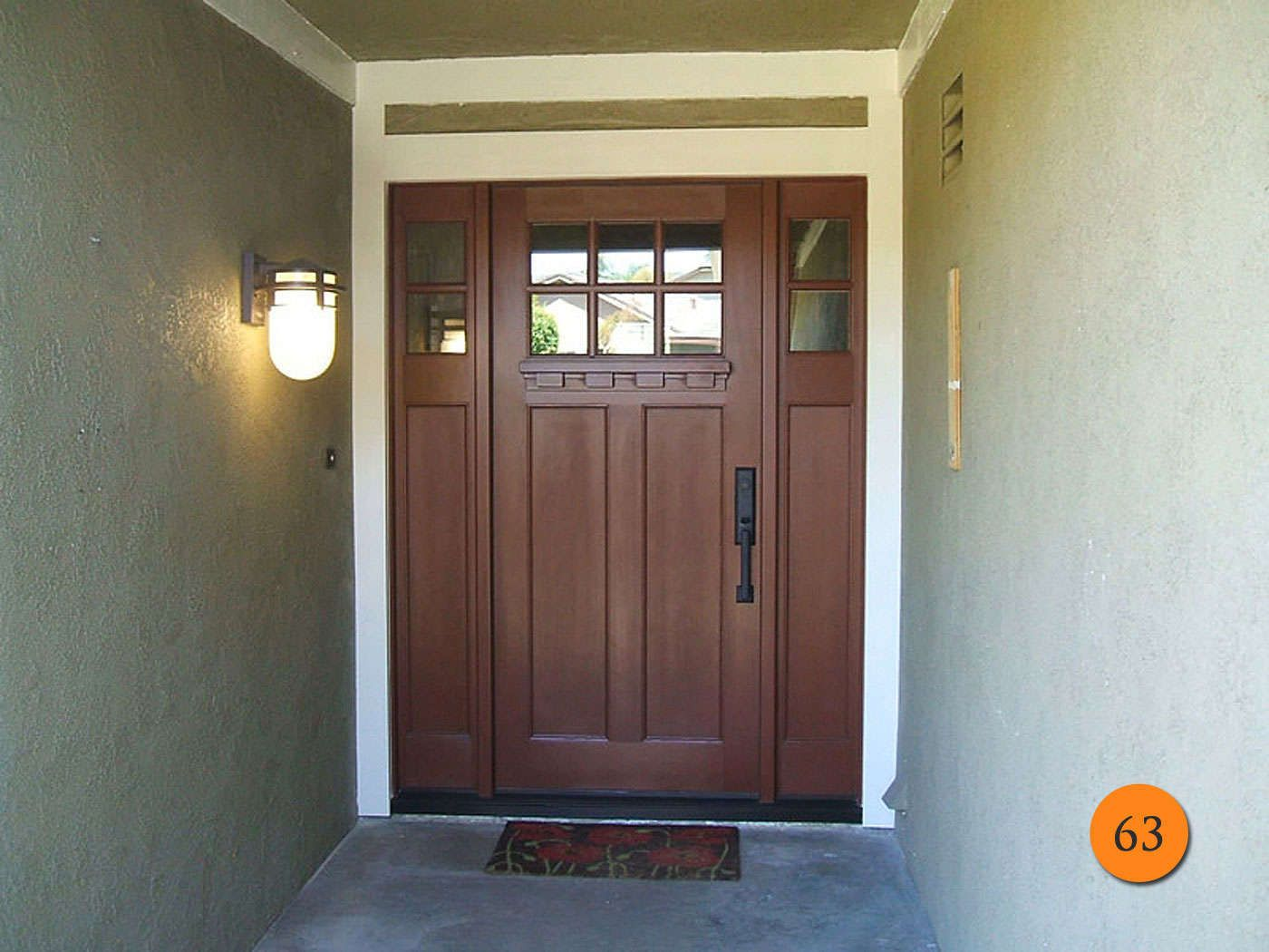 Plastpro Craftsman Fiberglass Entry Door System Installed In Yorba .