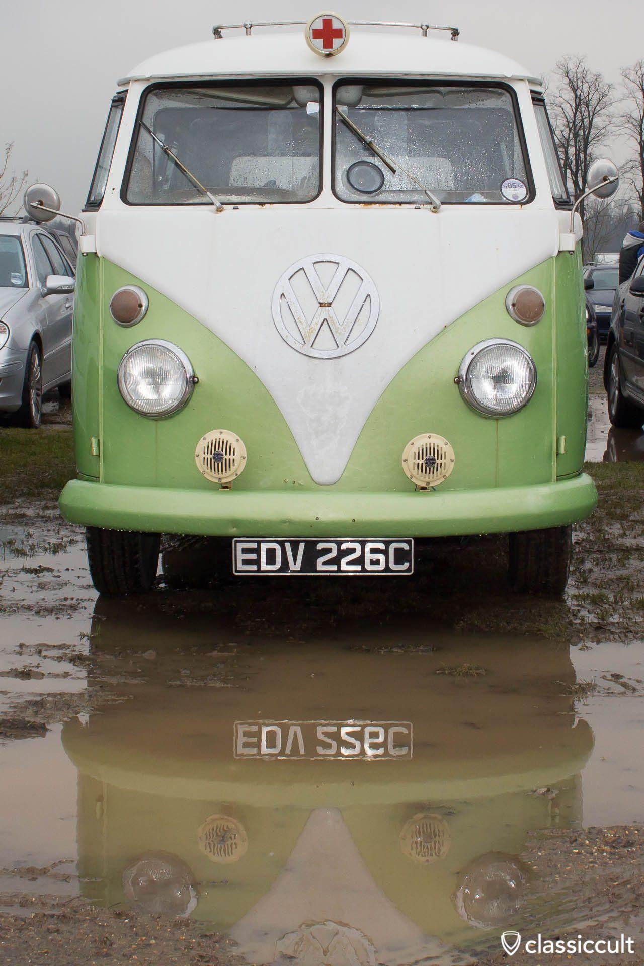 T1 Ambulance mud puddle reflection Volksworld 2013