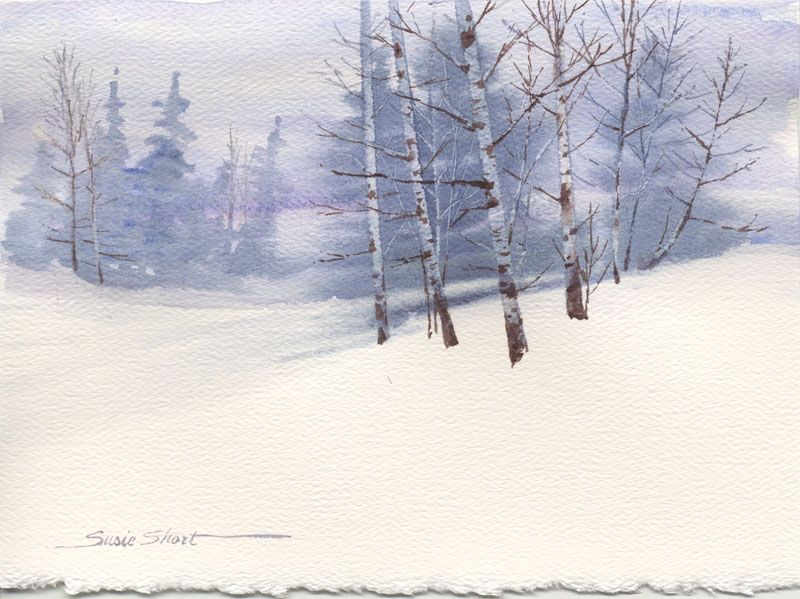 Susie Short Watercolor Winter Landscape Daniel Smithdaniel