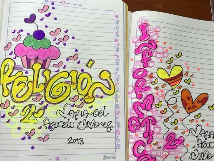 Portadas Para Decorar Cuadernos Libretas Y Agendas: Pin De Gabriela.Gohe En Decoraciones Para Cuadernos