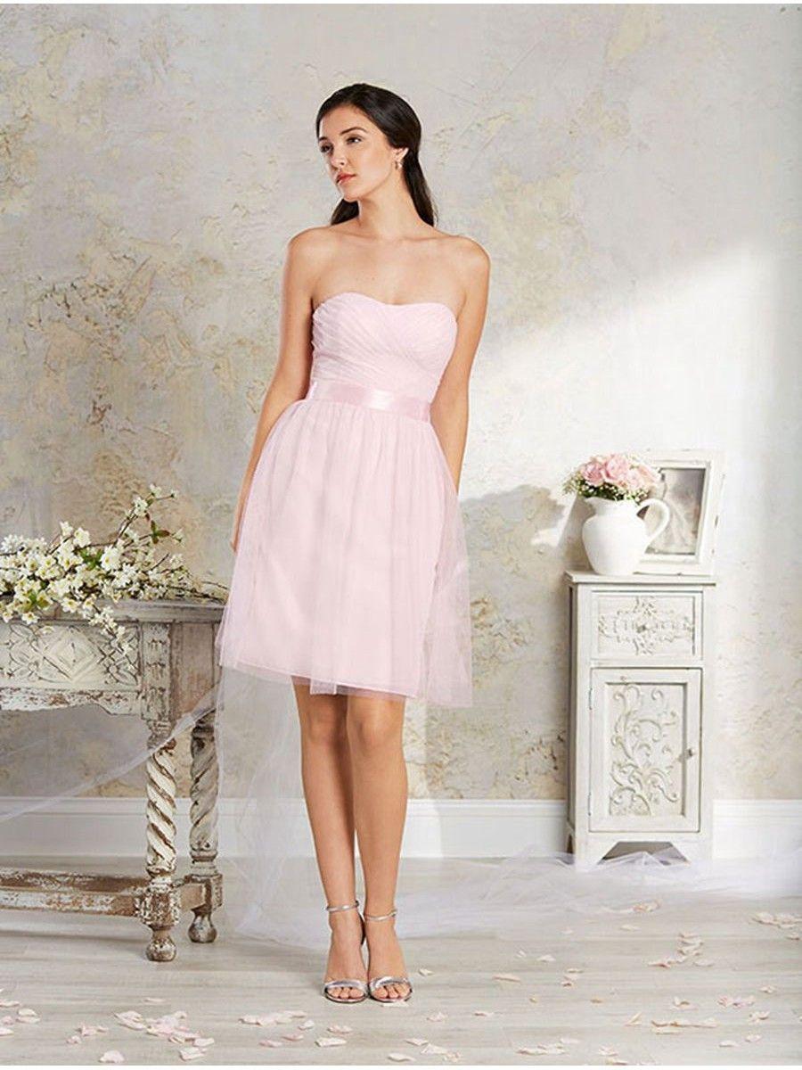 Aline strapless short bridesmaid dresses pinterest