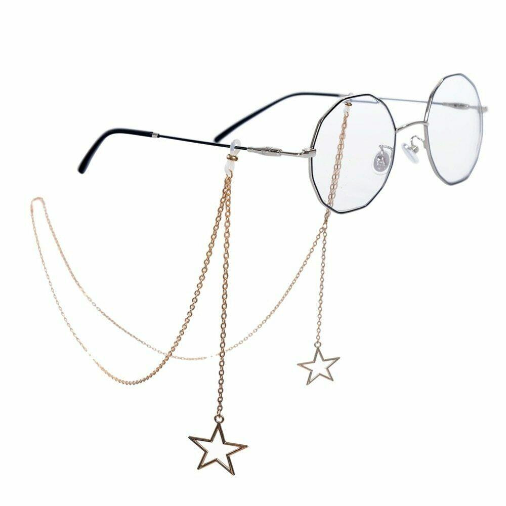 Chaînes de lunettes Penadant pour femmes Chaîne de lunettes de lecture Creux Star Lunettes de soleil | eBay   – wire stuff
