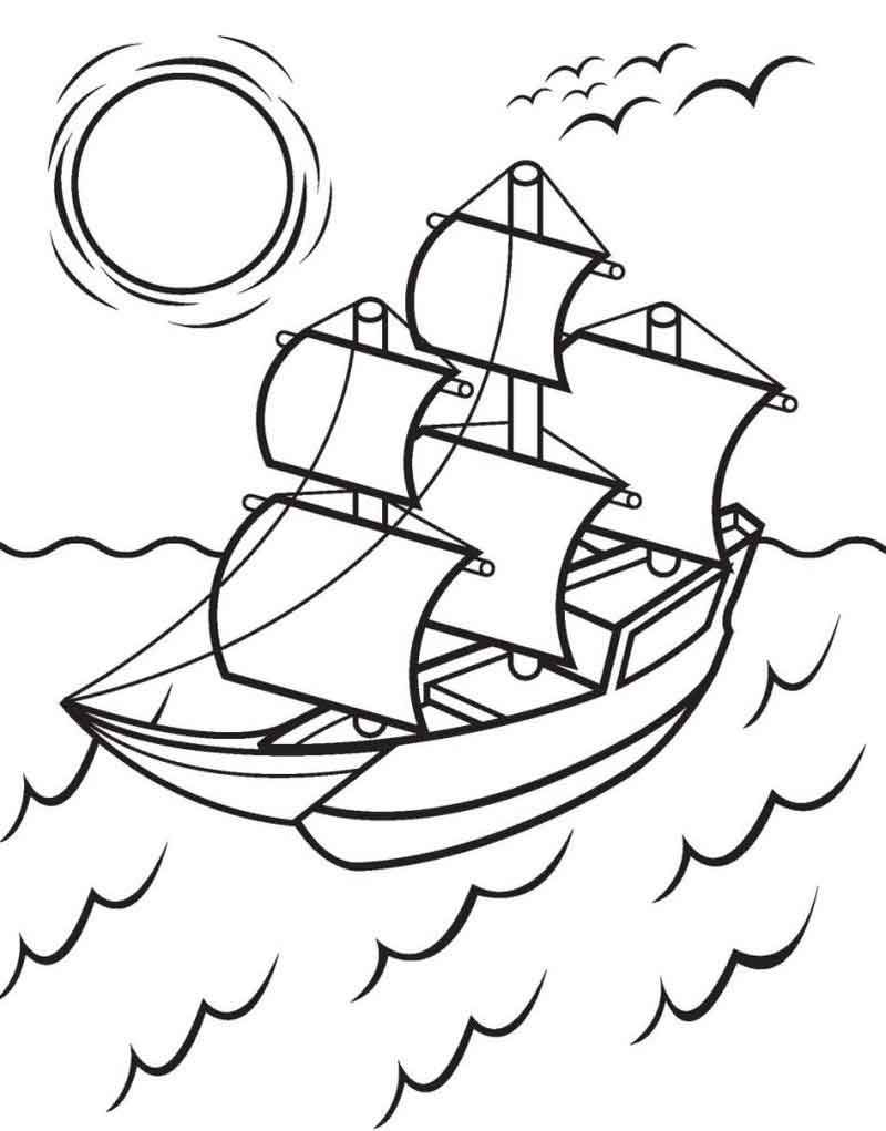The Mayflower Coloring Pages Printable