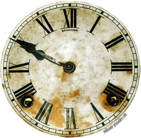 clock face templates printable Antique Clock Faces Template - printable face templates