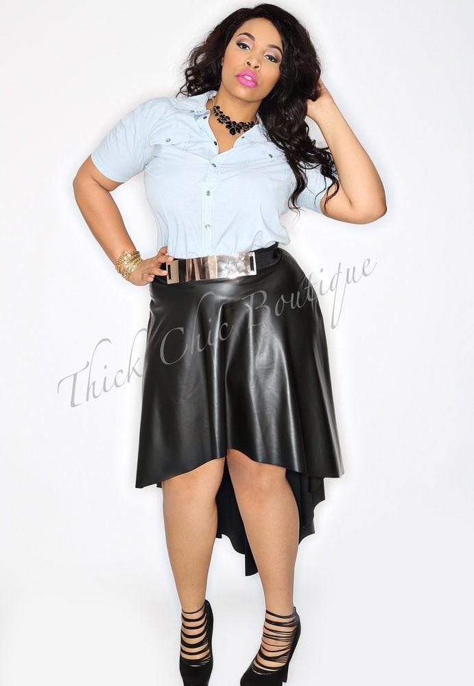 d88d390d800f Hi Low Faux Leather Skirt