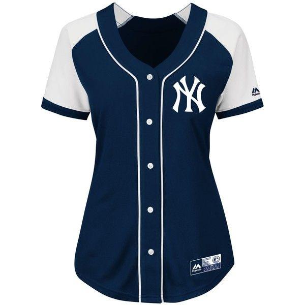 a0b42fa4438c Majestic Women's New York Yankees Fashion Replica Jersey ($70 ...