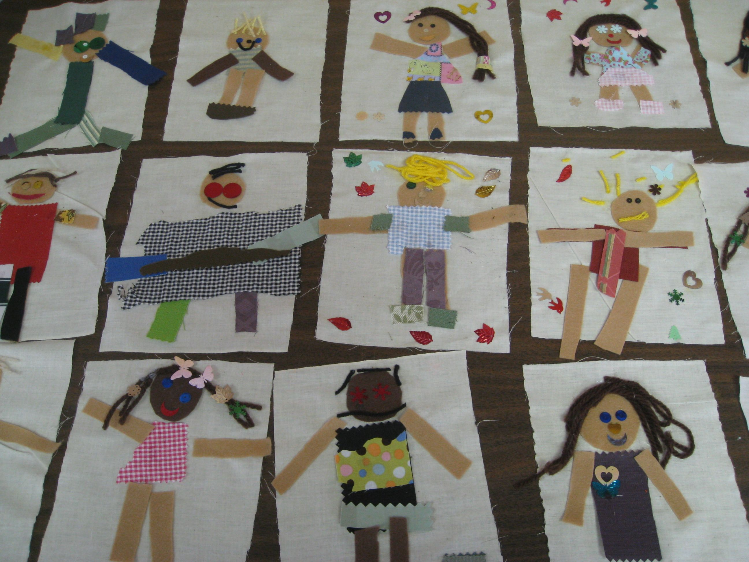 Fabric Craft Ideas For Kids Part - 37: Fabric Self Portraits By Kindergarteners. Kindergarten Art ProjectsKindergarten  ...