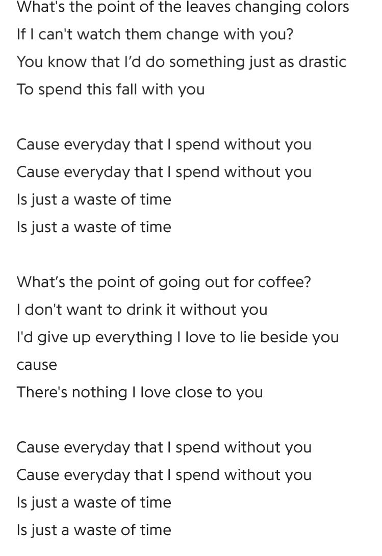 Julia Brown Without You Lyrics Yours Lyrics Leaves Changing Color Something To Do