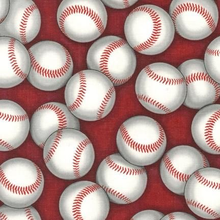 Baseball Fabric RK Sports Fabric baseballs red 5112 | Baseball ... : baseball quilt fabric - Adamdwight.com
