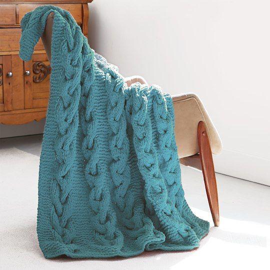 Bernat® Blanket™ Cable Knit Afghan http://www.michaels.com/m/B_81798 ...