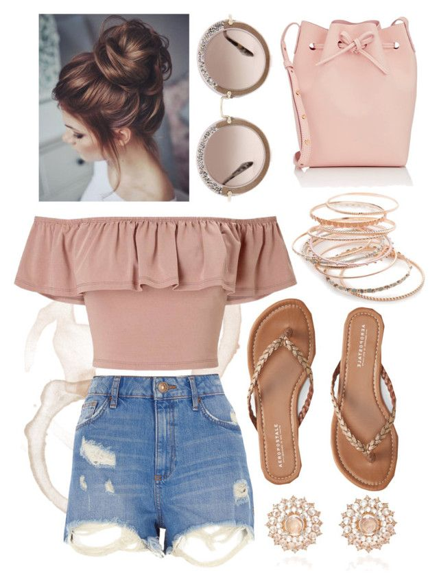 """""""Is it Summer Yet?"""" by adele-h-pocketbook ❤ liked on Polyvore featuring Aéropostale, River Island, Mansur Gavriel, Miss Selfridge, Red Camel, Nam Cho and Miu Miu"""